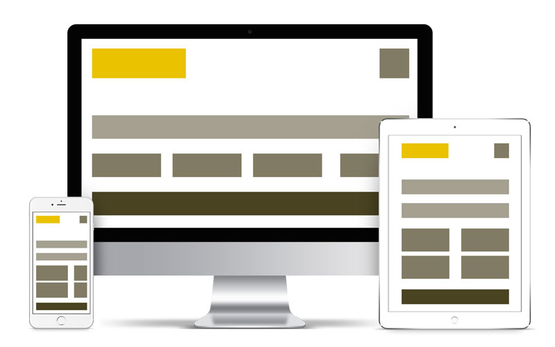 Strukturverschiebung auf einer mobiloptimierten Webseite